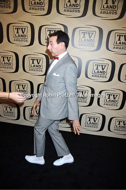 Pee Wee Herman(Paul Reubens)arrives at The 10th Annual TV Land Awards on April 14, 2012 at the Lexington Avenue Armory  in New York City.