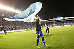 Deportivo Alaves' Theo Hernandez celebrates the victory in the Spanish Kings Cup semifinal. February 08,2017. (ALTERPHOTOS/Acero)