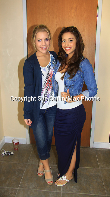 General Hospital Kristen Alderson and Lindsey Morgan donate time at SoapFest's Celebrity Weekend - Art for Autism when the actors & kids make paintings for auction to benefit Autism on November 10, 2012 Marco Island, Florida. For info www.autism-society.org or www.autismspeaks.org. (Photo by Sue Coflin/Max Photos)