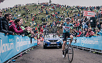 A goofin' Adam Hansen (AUS/Lotto-Soudal) up the infamous Monte Zoncolan (1735m/11%/10km)<br /> <br /> stage 14 San Vito al Tagliamento – Monte Zoncolan (186 km)<br /> 101th Giro d'Italia 2018