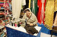 Nederland Beverwijk 2017. De Bazaar in Beverwijk. De Oosterse Markt. Caftan Biladi. Marokkaanse damesmode.Exclusieve kaftans.    Foto mag niet in negatieve context gebruikt worden.    Foto Berlinda van Dam / Hollandse Hoogte