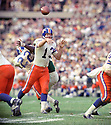 Denver Broncos Steve Tensi (13) during a game against the New York Jets on October 13, 1968 at Shea Stadium in Flushing, New York.  The Denver Broncos beat the New York Jets 21-13. Steve Tensi played for 6 season with 2 different teams.(SportPics)