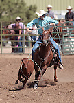 Ty Marriot competes in the calf roping event at the Minden Ranch Rodeo in Gardnerville, Nev., on Sunday, July 22, 2012..Photo by Cathleen Allison