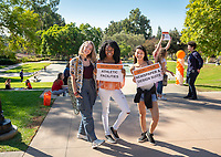 Students<br /> Explore Occidental - Fall Preview Day, Friday, November 9, 2018.<br /> Fall open house to give prospective students and their families the opportunity to explore Occidental with tours of campus, student and faculty-led discussions, the ability to sit in on a class, and to learn what it means to be an Oxy Tiger.<br /> (Photo by Marc Campos, Occidental College Photographer)