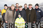 ATTENDENCE: having a good day at the Abbeydorney Ploughing Competition on Sunday in Abbeydorney. Front l-r: Tadgh Kerins, John Brennan (chairman Kilflynn Vintage Rally), Eddie Hally (Chairman NPA) and Maurice McEnery (Vice president NPA). Back l-r: Pat Hayes, John Kerins, John Lawlor and Mundy Hayes. ............ ....