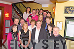 Paudie Murphy, Firies, pictured with family and friends as he celebrated his 40th birthday in Lord Kenmares restaurant, Killarney on Saturday night.