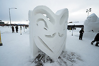 Snow Sculptures Ready