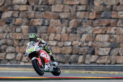 23.09.2016. Motorland Aragon, Alcaniz, Spain. MotoGP Grand Prix of Aragon, free Practice. Cal Crutchlow (LCR Honda) during the free practice sessions.