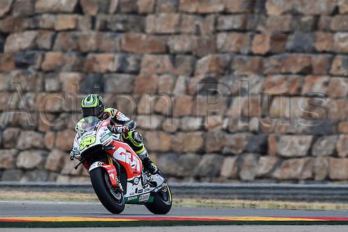 23.09.2016. Motorland Aragon, Alcaniz, Spain. MotoGP Grand Prix of Aragon, free Practice. Cal Crutchlow (LCR Honda) during the free practice sessions.