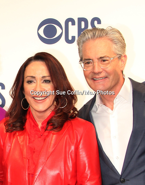 Patricia Heaton & Kyle MacLachlan star in Carol's Second Act - new CBS FALL SHOW - CBS Upfront 2019 held in New York City at the Todd English Food Hall on May 15, 2019.  (Photo by Sue Coflin/Max Photos)