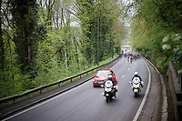 the actual race start at km 0<br /> <br /> 101th Liège-Bastogne-Liège 2015