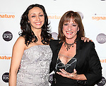 Natascia Diaz & Patti Lupone .attending the Signature Theatre Stephen Sondheim Award Gala reception honoring Patti Lupone at the Embassy of Italy in Washington D.C. on 4/16/2012.