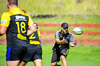 Hurricanes assistant coach Jason Holland in action during the  Hurricanes rugby union training at Rugby League Park in Wellington, New Zealand on Wednesday, 24 January 2018. Photo: Dave Lintott / lintottphoto.co.nz