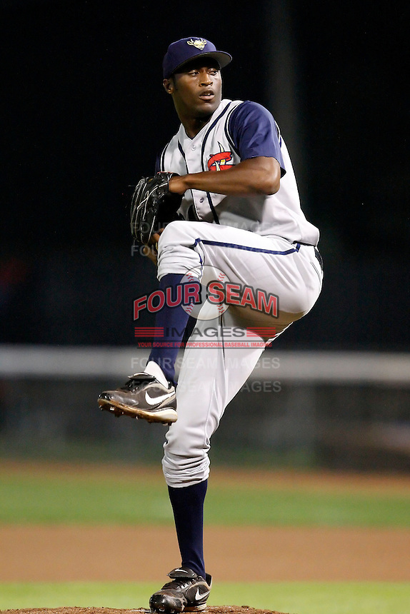 July 30, 2009:  Pitcher Maurice Bankston of the State College Spikes during a game at Russell Diethrick Park in Jamestown, NY.  State College is the NY-Penn League Short-Season Class-A affiliate of the Pittsburgh Pirates.  Photo By Mike Janes/Four Seam Images