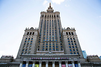 The Palace of Culture and Science in Warsaw, Poland on March 31, 2016.
