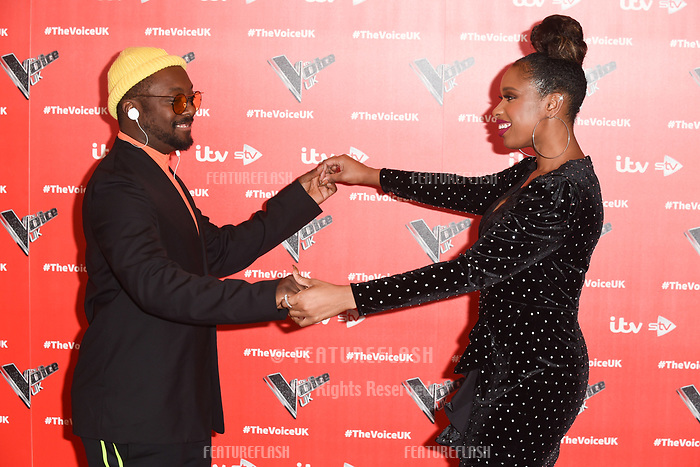 """LONDON, UK. January 03, 2019: Will.i.am & Jennifer Hudson at the launch photocall for the 2019 series of """"The Voice"""" London.<br /> Picture: Steve Vas/Featureflash"""