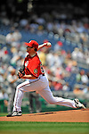 8 June 2008: Washington Nationals' pitcher Garrett Mock makes his Major League debut against the San Francisco Giants at Nationals Park in Washington, DC. The Nationals dropped the afternoon matchup to the Giants 6-3 in their third consecutive loss of the 4-game series...Mandatory Photo Credit: Ed Wolfstein Photo