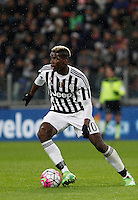 Calcio, Serie A: Juventus vs Inter. Torino, Juventus Stadium, 28 February 2016.<br /> Juventus&rsquo; Paul Pogba in action during the Italian Serie A football match between Juventus and Inter at Turin's Juventus Stadium, 28 February 2016.<br /> UPDATE IMAGES PRESS/Isabella Bonotto