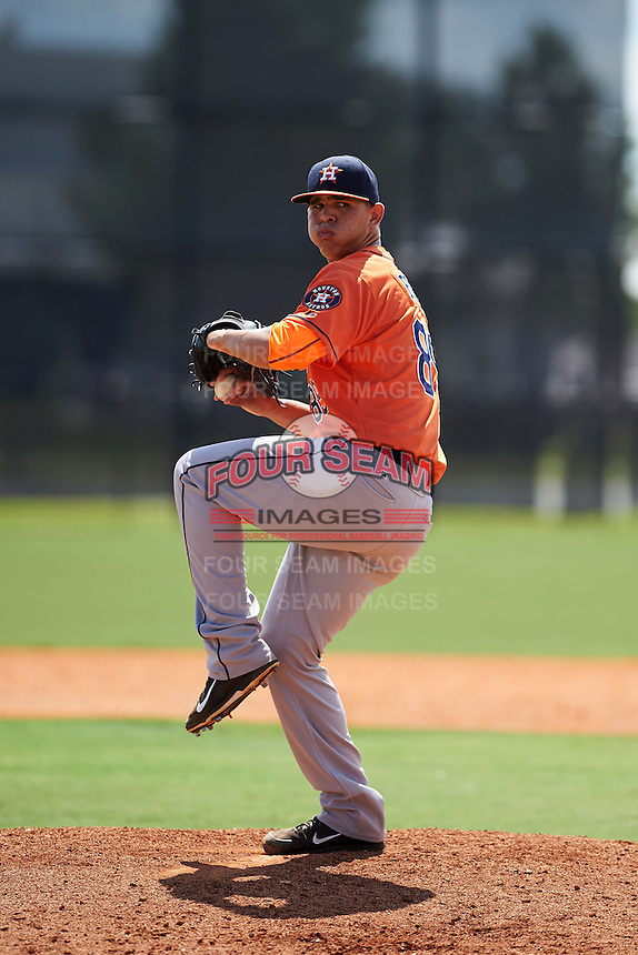 Houston Astros pitcher Franklin Perez (89) during an instructional league game against the Atlanta Braves on October 1, 2015 at the Osceola County Complex in Kissimmee, Florida.  (Mike Janes/Four Seam Images)