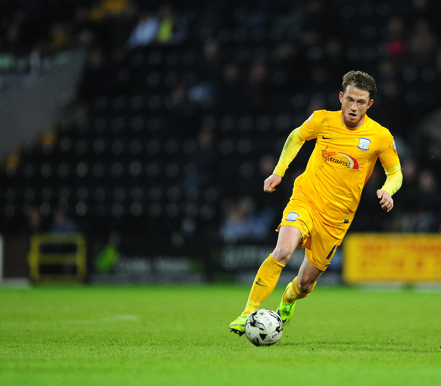 Preston North End's Joe Garner<br /> <br /> Photographer Chris Vaughan/CameraSport<br /> <br /> Football - The Football League Sky Bet League One - Notts County v Preston North End - Tuesday 21st April 2015 - Meadow Lane - Nottingham<br /> <br /> &copy; CameraSport - 43 Linden Ave. Countesthorpe. Leicester. England. LE8 5PG - Tel: +44 (0) 116 277 4147 - admin@camerasport.com - www.camerasport.com