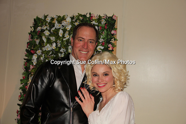 """Guiding Light's Robert Bogue and Mandy Bruno star in Lilttle Shop of Horrors The Musical on May 27, 2018 presented by CaPAA at the Ritz Theater in Scranton, PA. Mandy is """"Audrey"""", Robert is """"Orian, Berstein, Luce, Snip, Martin"""" and Kelly is """"Seymour"""". Mandy is  also the director, set designer, video projection production, props and costumes. Also their children Zeb (15), Zoe (13) and Flynn (6) were at this show and many others. (Photo by Sue Coflin/Max Photo)"""