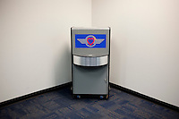 An unused ticket kiosk for Southwest Airlines at Love Field Airport in Dallas, Texas, Wednesday, October 27, 2010...PHOTO/ MATT NAGER