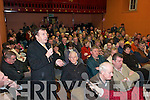 Ted Fitzgerald CONCERNS: Some of the attendance at the Castleisland By-pass public meeting in Castleisland on Wednesday night..