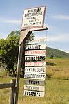 Nippenose Valley. Hillside greenhouse farm sign.