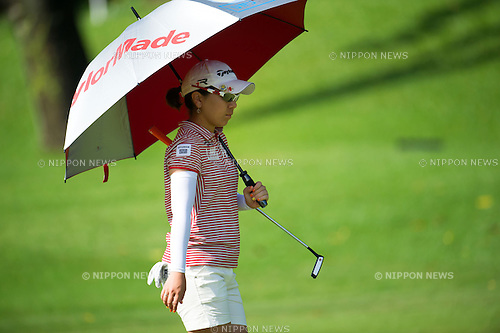 Mika Miyazato (JPN), MARCH 2, 2013 - Golf : Mika Miyazato of Japan in action during the third round of the the HSBC Women's Champions golf tournament at Sentosa Golf Club in Singapore. (Photo by Haruhiko Otsuka/AFLO)
