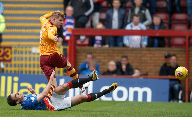 Lee Wallace tackles Chris Cadden