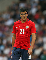 Mohamed Elyounoussi (Basel) of Norway during the International EURO U21 QUALIFYING - GROUP 9 match between England U21 and Norway U21 at the Weston Homes Community Stadium, Colchester, England on 6 September 2016. Photo by Andy Rowland / PRiME Media Images.