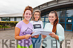 Looking through their Leaving Cert results at Mounthawk School on Wednesday were Majella Shanahan from Kielduff, Nicole Comerford from Tralee and Cliona Leane from Lyreacrompane.