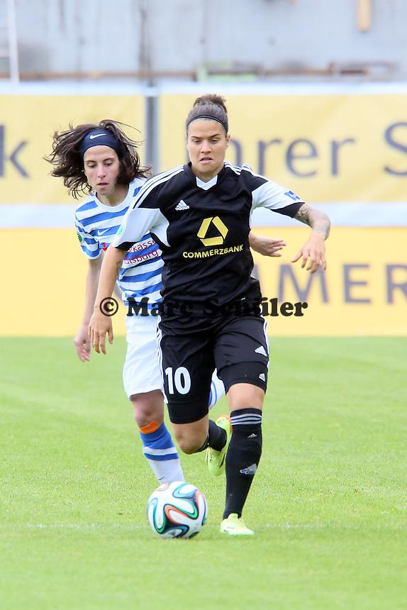 Dzsenifer Marozsan (FFC) gegen Silva Jacome (MSV) - 1. FFC Frankfurt vs. MSV Duisburg
