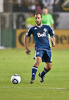 CARSON, CA - September 17, 2011: Vancouver Whitecaps midfielder Peter Vagenas (8) during the match between LA Galaxy and Vancouver Whitecaps at the Home Depot Center in Carson, California. Final score LA Galaxy 3, Vancouver Whitecaps 0.