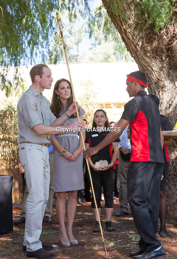 &quot;NO UK USAGE UNTIL 20th May 2014(28 Days)&quot;<br /> <br /> 22.04.2014; Uluru; Northern Territory: KATE AND PRINCE WILLIAM <br /> The Duke and Duchess of Cambridge visit the National Indigenous Training Academy, Uluru, Australia<br /> Mandatory Photo Credit: &copy;DIASIMAGES<br /> <br /> <br /> IMMEDIATE CONFIRMATION OF USAGE REQUIRED:<br /> DiasImages, 31 Chinnery Hill, Bishop's Stortford, ENGLAND CM23 3PS<br /> Tel:+441279 324672  ; Fax: +441279656877<br /> Mobile:  0777568 1153