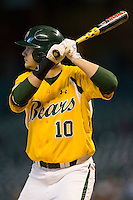 Jon Ringenberg #10 of the Baylor Bears at bat versus the Rice Owls in the 2009 Houston College Classic at Minute Maid Park March 1, 2009 in Houston, TX.  The Owls defeated the Bears 8-3. (Photo by Brian Westerholt / Four Seam Images)
