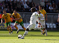 Pictured: Jason Scotland of Swansea City <br /> Re: Coca Cola Championship, Swansea City FC v Norwich City FC at the Liberty Stadium Swansea, south Wales. Saturday 11 April 2009.<br /> Picture by D Legakis Photography / Athena Picture Agency, Swansea 07815441513