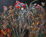 """""""Gettysburg""""<br /> ORIGINAL Acrylic on Canvas<br /> <br /> 32x39<br /> $28,000"""