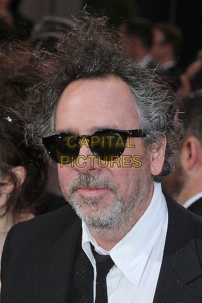 Tim Burton.85th Annual Academy Awards held at the Dolby Theatre at Hollywood & Highland Center, Hollywood, California, USA..February 24th, 2013.oscars headshot portrait black white shirt tie beard facial hair sunglasses shades .CAP/ADM/SLP/COL.©Colin/StarlitePics/AdMedia/Capital Pictures