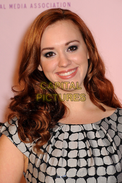 ANDREA BOWEN.2009 Environmental Media Awards held at Paramount Studios, Los Angeles, California, USA..October 25th, 2009.EMA EMA's EMAS headshot portrait black grey gray white polka dot pattern .CAP/ADM/BP.©Byron Purvis/AdMedia/Capital Pictures.