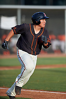 AZL Giants Black Jin-De Jhang (6) runs to first base during a rehab assignment in an Arizona League game against the AZL Giants Orange on July 19, 2019 at the Giants Baseball Complex in Scottsdale, Arizona. The AZL Giants Black defeated the AZL Giants Orange 8-5. (Zachary Lucy/Four Seam Images)