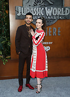 LOS ANGELES, CA - JUNE 12: Justice Smith, Raffaella Meloni, at Jurassic World: Fallen Kingdom Premiere at Walt Disney Concert Hall, Los Angeles Music Center in Los Angeles, California on June 12, 2018. Credit: Faye Sadou/MediaPunch