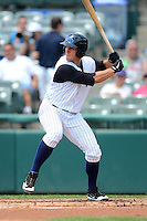 Trenton Thunder designated hitter Andrew Clark #49 during a game against the Reading Fightin Phils on July 8, 2013 at Arm & Hammer Park in Trenton, New Jersey.  Trenton defeated Reading 10-6.  (Mike Janes/Four Seam Images)