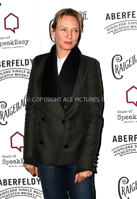 WWW.ACEPIXS.COM<br /> <br /> January 28, 2015 New York City<br /> <br /> Uma Thurman attending the 2015 House Of SpeakEasy Gala at City Winery on January 28, 2015 in New York City.<br /> <br /> By Line: Nancy Rivera/ACE Pictures<br /> <br /> <br /> ACE Pictures, Inc.<br /> tel: 646 769 0430<br /> Email: info@acepixs.com<br /> www.acepixs.com