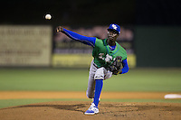 Lexington Legends relief pitcher Yunior Marte (19) delivers a pitch to the plate against the Kannapolis Intimidators at CMC-Northeast Stadium on May 26, 2015 in Kannapolis, North Carolina.  The Intimidators defeated the Legends 4-1.  (Brian Westerholt/Four Seam Images)