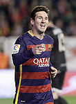 FC Barcelona's Leo Messi celebrates goal during La Liga match. March 3,2016. (ALTERPHOTOS/Acero)
