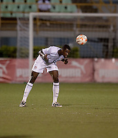 Aaron Maund heads the ball. Costa Rica defeated the US Under 20 Men's National team 3-0 during the 2009 CONCACAF U-20 Championship game at Marvin Lee Stadium Trinidad & Tobago in Macoya, Trinidad on March 17th, 2009.