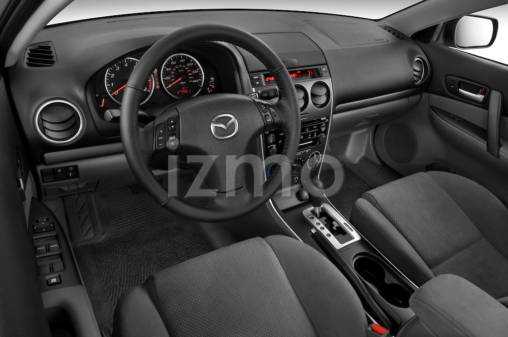 High angle dashboard view of a 2008 Mazda 6 Sport Sedan