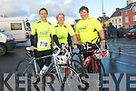 Anne Marie Tritschler, June Moloney and Domnick Moloney, from Listowel, at the Dingle Duathlon on Sunday morning...