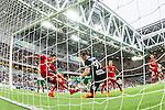 Stockholm 2015-07-27 Fotboll Allsvenskan Hammarby IF - IFK Norrk&ouml;ping :  <br /> Norrk&ouml;pings Arn&oacute;r Ingvi Traustason och m&aring;lvakt David Mitov Nilsson r&auml;ddar en boll vid m&aring;llinjen i slutet av f&ouml;rsta halvleken under matchen mellan Hammarby IF och IFK Norrk&ouml;ping <br /> (Foto: Kenta J&ouml;nsson) Nyckelord:  Fotboll Allsvenskan Tele2 Arena Hammarby HIF Bajen IFK Norrk&ouml;ping